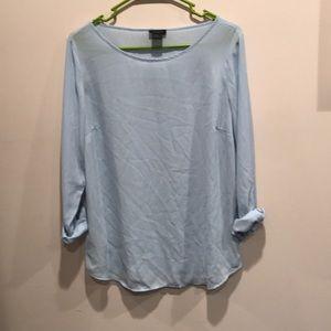 Light blue chiffon shirt